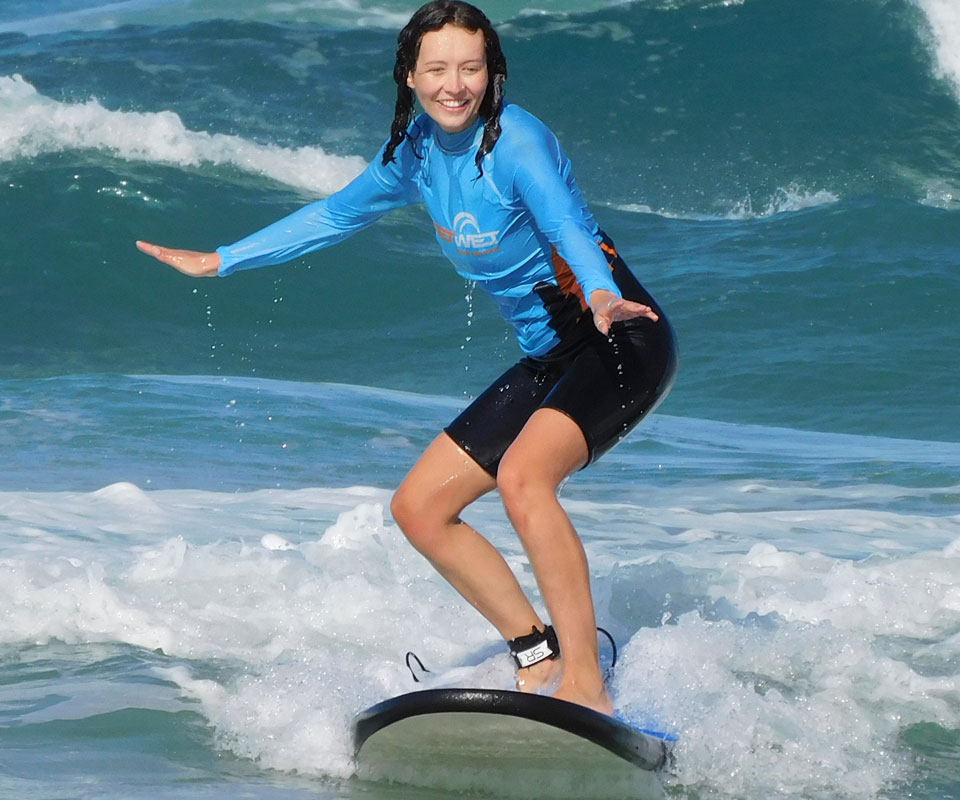 Ella Surfing The Spit